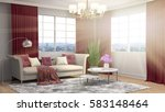 interior with sofa. 3d... | Shutterstock . vector #583148464
