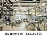 slaughterhouse poultry factory. ... | Shutterstock . vector #583151530