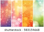 set of indian country ornament... | Shutterstock .eps vector #583154668