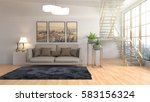 interior with sofa. 3d... | Shutterstock . vector #583156324