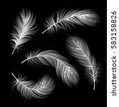 set of vector white light...   Shutterstock .eps vector #583158826