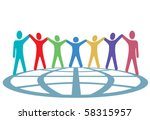a global group of symbol people ... | Shutterstock .eps vector #58315957