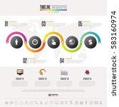 timeline infographics design... | Shutterstock .eps vector #583160974