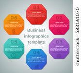 infographics elements.... | Shutterstock .eps vector #583161070