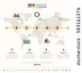 timeline infographics design... | Shutterstock .eps vector #583161376