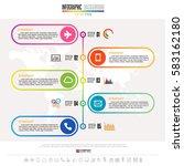 timeline infographics design... | Shutterstock .eps vector #583162180
