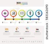 timeline infographics design... | Shutterstock .eps vector #583162690