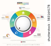timeline infographics design... | Shutterstock .eps vector #583164178