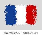 france flag grunge style.... | Shutterstock .eps vector #583164334