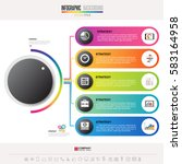 infographics design template... | Shutterstock .eps vector #583164958