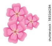 sakura flower blossom on white... | Shutterstock .eps vector #583166284