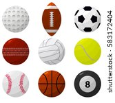 sport ball set for different... | Shutterstock . vector #583172404