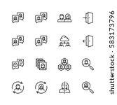 social profile related vector... | Shutterstock .eps vector #583173796