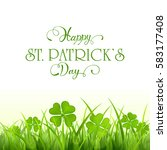 nature background with clover...   Shutterstock .eps vector #583177408