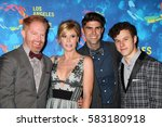 Small photo of LOS ANGELES - SEP 24: Jesse Tyler Ferguson, Julie Bowen, Justin Mikita, Nolan Gould - LA LGBT Center 47th Gala Vanguard Awards at the Pacific Design Center on September 24, 2016 in West Hollywood, CA