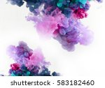 color smoke underwater.... | Shutterstock . vector #583182460