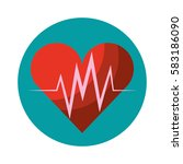 heart cardio isolated icon | Shutterstock .eps vector #583186090