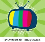 abstract television icon with... | Shutterstock .eps vector #583190386