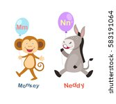 illustration isolated alphabet... | Shutterstock .eps vector #583191064