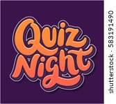 quiz night banner. | Shutterstock .eps vector #583191490