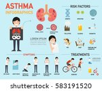 asthma symptoms infographic... | Shutterstock .eps vector #583191520