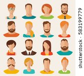 set of different flat vector... | Shutterstock .eps vector #583199779