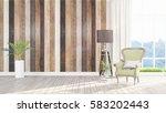 modern bright interior . 3d... | Shutterstock . vector #583202443