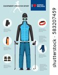 vector illustration of set with ... | Shutterstock .eps vector #583207459