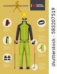 vector illustration of set with ... | Shutterstock .eps vector #583207519
