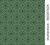 clover seamless pattern in... | Shutterstock .eps vector #583207624