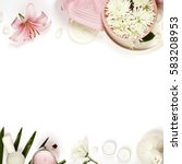 health and beauty template with ...   Shutterstock . vector #583208953