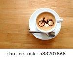 coffee   coffee cup  latte art... | Shutterstock . vector #583209868