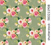 seamless floral pattern with... | Shutterstock .eps vector #583211908