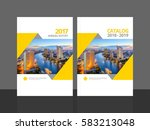 cover design for annual report... | Shutterstock .eps vector #583213048