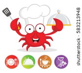 Cute Crab Chef Vector
