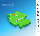 map germany isometric concept.... | Shutterstock .eps vector #583215100