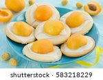 eggs easter cookies with...   Shutterstock . vector #583218229