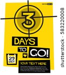 3 days to go   flat style... | Shutterstock .eps vector #583220008