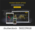 market trade. binary option.... | Shutterstock .eps vector #583229818