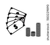 cash icon on white background....   Shutterstock .eps vector #583229890