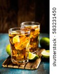 cuba libre or long island iced... | Shutterstock . vector #583231450