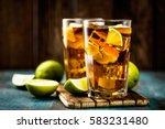cuba libre or long island iced... | Shutterstock . vector #583231480