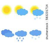 modern weather icons set. | Shutterstock .eps vector #583231714
