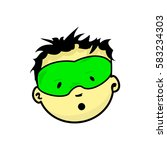 young masked superhero face... | Shutterstock .eps vector #583234303