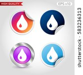 waterdrop icon. button with...