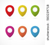 set of colorful point buttons | Shutterstock .eps vector #583239718