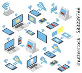 set of different wireless... | Shutterstock .eps vector #583239766