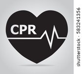 cpr  cardiopulmonary... | Shutterstock .eps vector #583241356