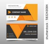 orange corporate business card  ... | Shutterstock .eps vector #583243084