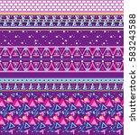 abstract seamless patterkn.... | Shutterstock . vector #583243588